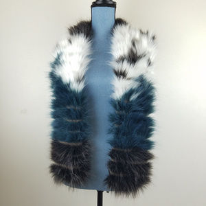 Mossimo Supply Co. Accessories - Retro Look Ringed Striped Faux Fur Stole Scarf